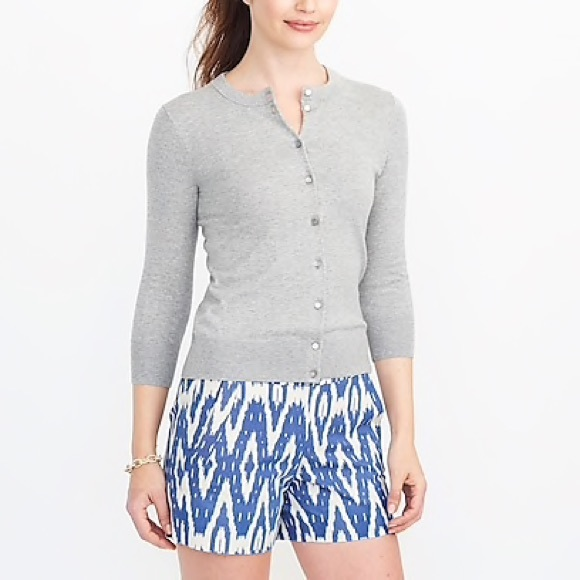 J. Crew Sweaters - 2/$50✨ J. CREW • Heather Gray The Clare Cardigan